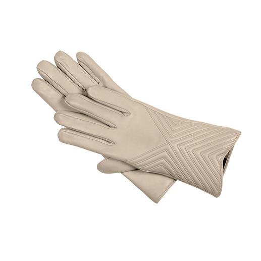 Merola Lammnappa-Handschuhe Der Luxus-Handschuh für alle hellen Ton in Ton-Kombinationen. Handgefertigt von Merola, Italien.