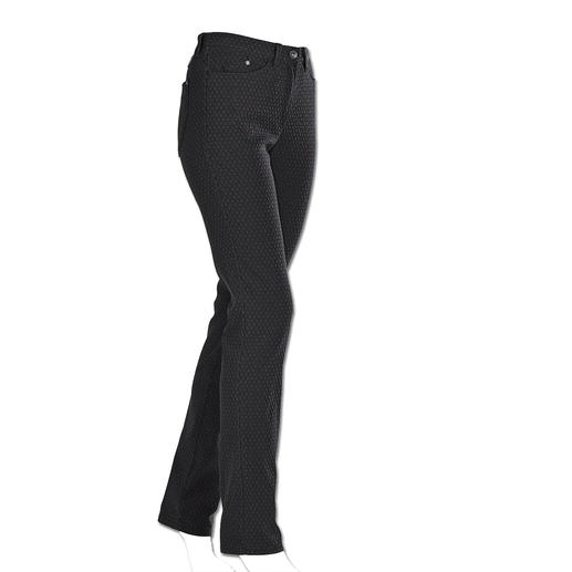 RAPHAELA-BY-BRAX Zauberbund-Hose Krawatten-Dessin Ihre wohl bequemste Five-Pocket-Hose: die Zauberbund-Hose von RAPHAELA-BY-BRAX. Nicht sichtbare Bundweiten-Reserve plus Power-Stretch-Effekt.