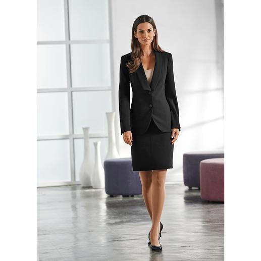 Easywear-Gehrock, -Blazer, -Hose oder -Rock Der unkomplizierte unter den klassischen Business-Anzügen. Blazer, Hose und Rock – vielseitig zu kombinieren.