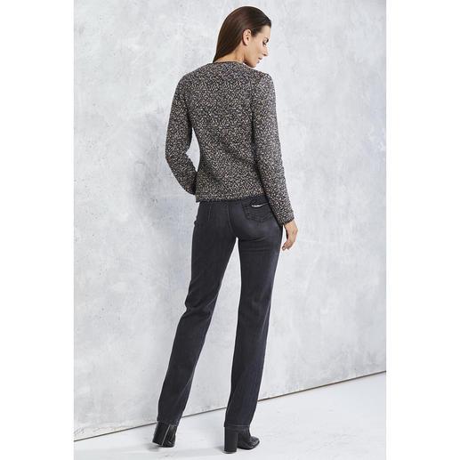 """ANNECLAIRE Bouclé-Cardigan """"Multicolor"""" So bequem und luftig kann eine elegante Bouclé-Jacke sein. Gestrickt statt gewebt. Von ANNECLAIRE. Made in Italy."""