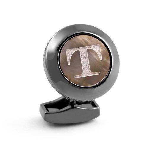 Tateossian Initial-Manschettenknopf Individuell und selten: Perlmutt-Manschettenknöpfe mit Ihren Initialen.