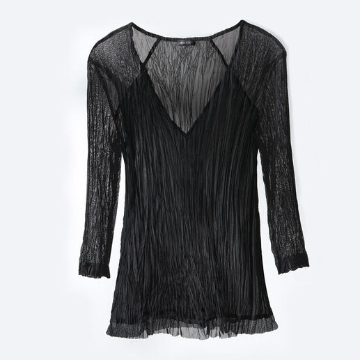 """Shelley Komarov Travel-Shirt """"Plissee"""" Gut gekleidet ohne Aufwand: das unkomplizierte Reise-Shirt von Shelley Komarov, L.A. Bequem, pflegeleicht und trotzdem chic."""