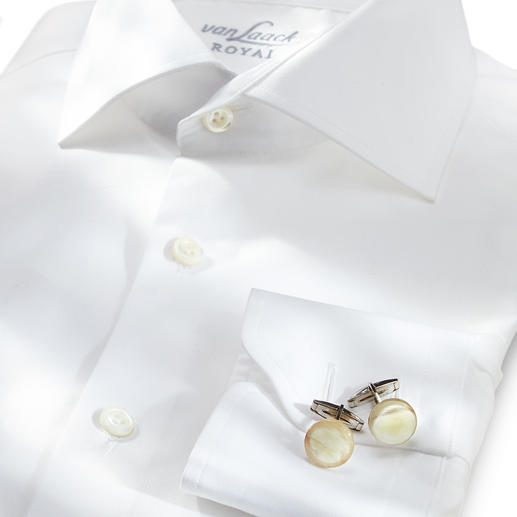 Zanchi Horn-Manschettenknöpfe Stilvolle Rarität: Manschettenknöpfe aus echtem Horn. Individuell durch natürliche Farbe und Maserung.