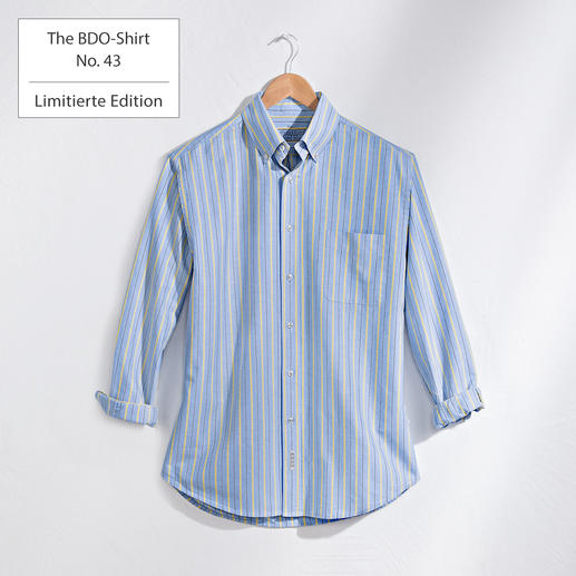 The BDO-Shirt No.43,  Gestreift Entdecken Sie einen guten alten Freund. Und vergessen Sie, dass ein Hemd gebügelt werden muss.