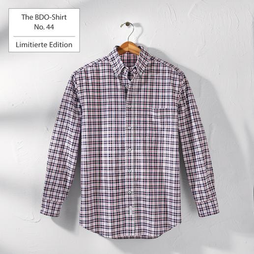 The BDO-Shirt No.44, Kariert Entdecken Sie einen guten alten Freund. Und vergessen Sie, dass ein Hemd gebügelt werden muss.