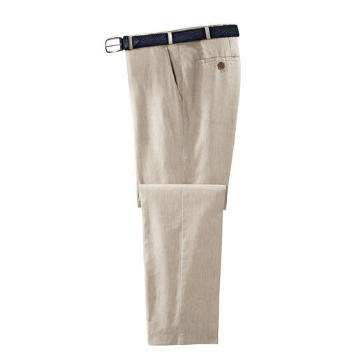 Hoal Business-Leinenhose, Oatmeal Weich fliessend, knitter- und bügelarm - die Business-Leinenhose von HOAL.