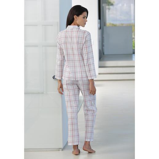 Novila Karo-Pyjama, Rose/Grau Der Pyjama für den ersten guten Eindruck am Morgen.