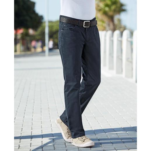 Coolmax® Sommer-Five-Pocket Die Five-Pocket für den Sommer: das Tragegefühl von Baumwolle. Der Klima-Komfort von Coolmax®.