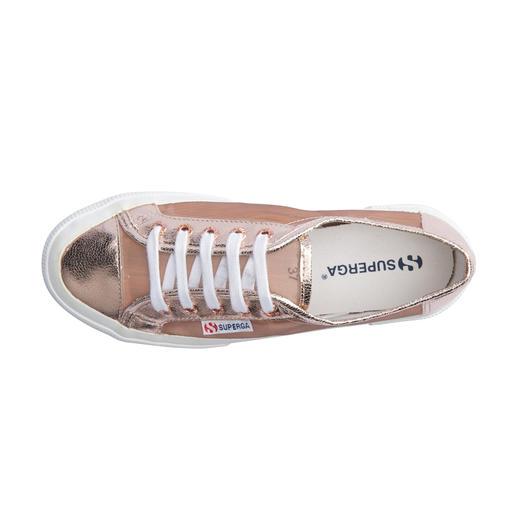Superga® Metallic-Mesh- Sneakers Kultige Superga®s: In dieser Saison mit Metallic-Mesh besonders angesagt.