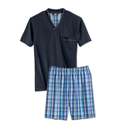 Lieblings-Pyjama No. 25 Ihr Lieblings-Pyjama zum kleinen Preis. Reine Baumwolle, sauber verarbeitet, made in Germany.