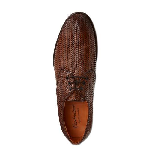 Cordwainer Flechtschuh Der handgeflochtene Derby aus feinem Kalbleder: Korrekt wie ein klassischer Business-Schuh. Aber viel luftiger.