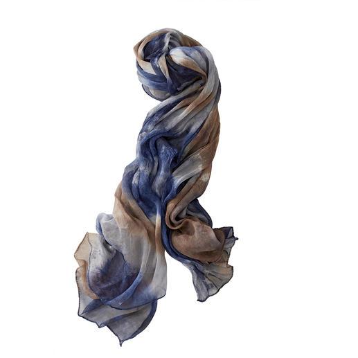 Ancini Plangi-Seidenschal Viel schöner, viel luftiger als die übliche Massenware aus Kunstfasern. Von Ancini/Italien.