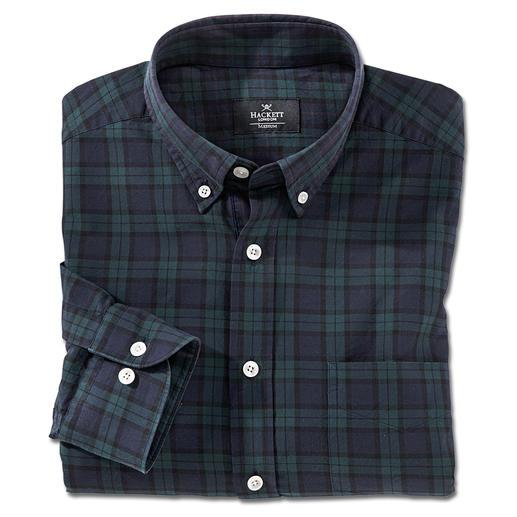 Hackett Black Watch Tartan-Hemd Karomuster gibt es viele. Hier ist ein original Black Watch Tartan. Britische Eleganz vom Londoner Label Hackett.