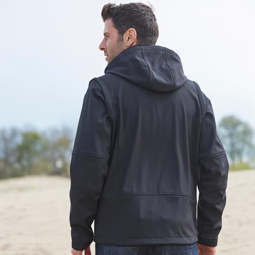 Soft Shell- Herrenjacke Schlank, leicht und trotzdem warm. Jacke aus Soft Shell, mit WindProtect®.