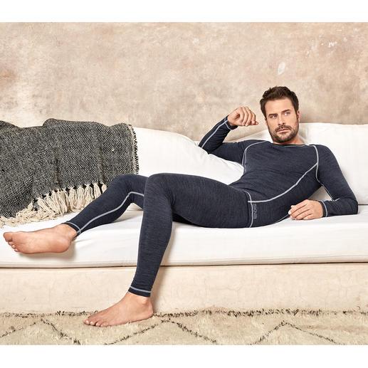 Active-Wool Wäsche von Skiny, Herren Active-Wool: weich, kratzfrei und nie zu warm. Die perfekte Wäsche für jeden Tag und fürs ganze Jahr.