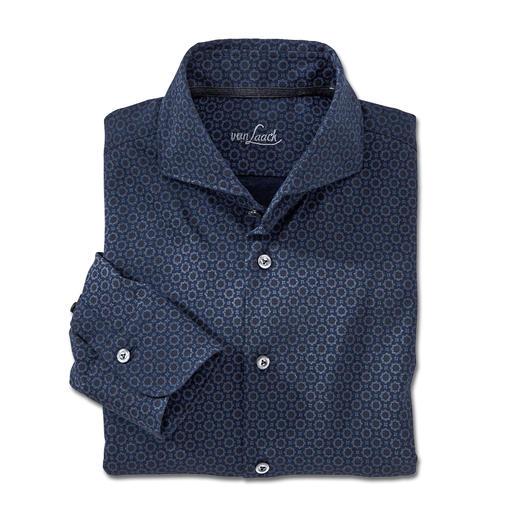 van Laack Jersey-Hemd - Das Jersey-Hemd mit feinem Mosaik-Druck. Von van Laack, Hemdenspezialist seit 1881.