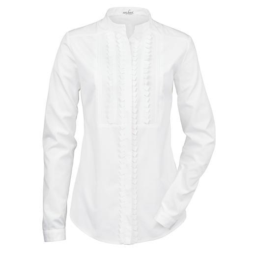 van Laack Stehkragen-Bluse Blusen-Spezialist van Laack macht die weisse Basic-Bluse zum Trendsetter.
