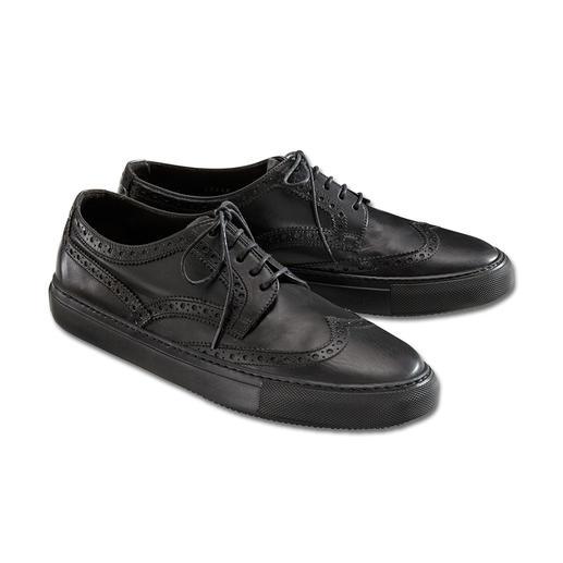 Fratelli Rossetti Brogue-Edelsneaker Elegant wie luxuriöse Anzugschuhe. Bequem wie Ihre Lieblings-Sneaker. Butterweiches Kalbleder im aktuellen Stilmix.