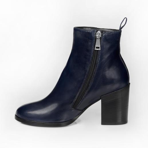 Ma&Lo Lammfell-Stiefelette So elegant können winterwarme Lammfell-Boots sein.