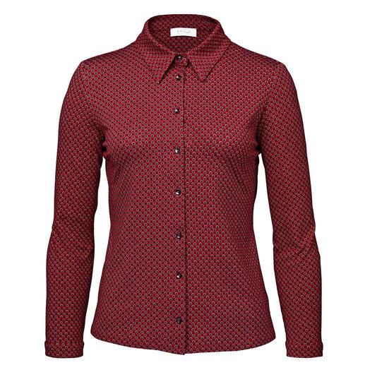 KD-Klaus Dilkrath Jersey-Bluse, rot-schwarz Elegant wie eine Bluse. Bequem wie ein Shirt.
