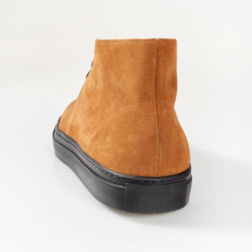 Bernaccini Kalbvelours-Chukka-Boots Feinstes Kalbvelours – wetter- und winterfest dank ScotchgardTM-Ausrüstung.