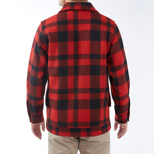 Filson Holzfäller-Wolljacke Die original Holzfäller-Jacke der U.S.-Forstbetriebe. Von C.C. Filson. Natürlich wärmend. Wasserabweisend. Unverwüstlich. Aus 100 % Schurwolle.
