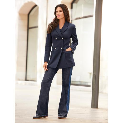 Strenesse Flared-Jeans Clean und edel. Mit angesagten Galons. In bewährt perfekter Strenesse-Passform.