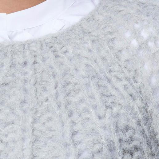 Handstrick-Alpaka-Pullover Eine Rarität aus den Anden: kostbares Alpaka, handgestrickt statt massengefertigt.