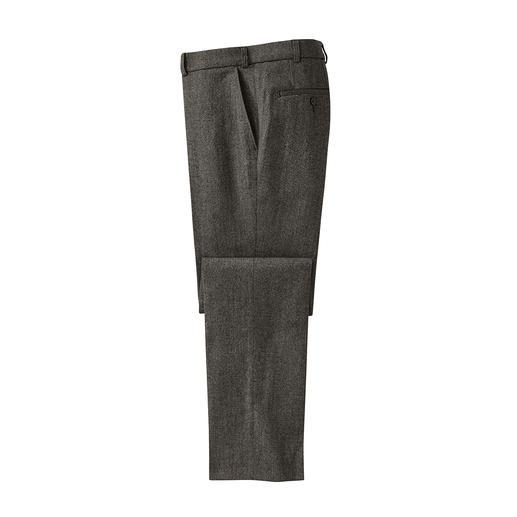 Soft-Donegal-Tuchhose Original Donegal-Tweed. Unvergleichlich weich dank 46 % Baumwolle. Typisch kernig-genoppter Charakter. Gewebt von Abraham Moon & Sons in England.
