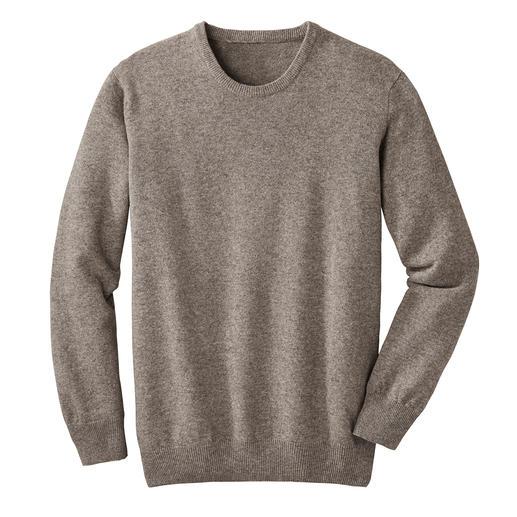 Yak-Pullover Leichter als Schurwolle. Fast so weich wie Kaschmir. Und deutlich robuster als beide. Seltene Yakwolle, naturbelassen und frei von Chemie.
