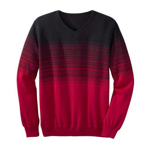 Der Streifenpullover mit effektvollem Farbverlauf. Die ausgefallene Art, modische Streifen zu tragen.