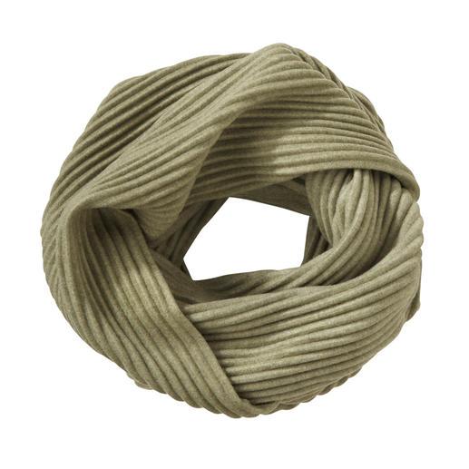 """Plissee-Fleece-Loop-Schal Preisgekröntes Design aus Schweden: """"Pleece"""". Aussergewöhnlich elegant, soft und wärmend."""