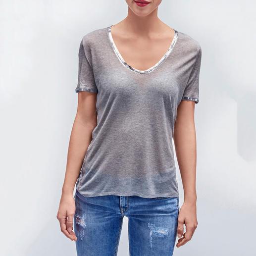 Zadig & Voltaire Metallic-Paint-Shirt Vorreiter des Silber- und Gold-Trends: das handkolorierte Kult-Shirt von Zadig & Voltaire.