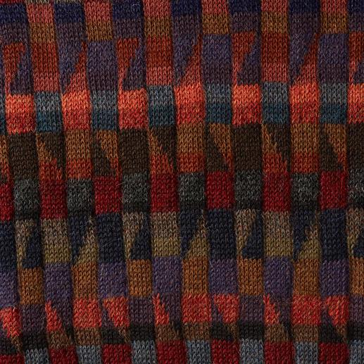 Alpaka-Pullover Mosaiko Das Kunstwerk aus den Anden. 100 % Alpaka. Handgefertigt in 28 (!) Farben. Dieses Mosaik ist nicht gelegt, sondern gestrickt.