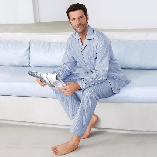 Brooks Brothers Supima-Pyjama Fühlt sich weicher an, sieht länger gut aus: der Edel-Pyjama aus seltener Supima®-Baumwolle.
