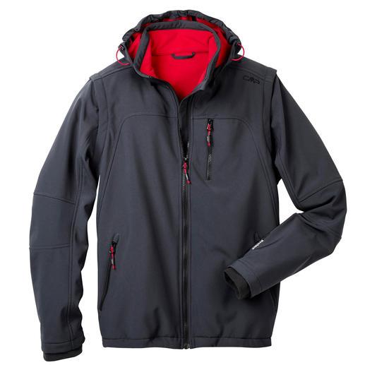 Soft Shell-Herrenjacke, Grau Schlank, leicht und trotzdem warm: die Jacke aus Soft Shell, mit WindProtect®.