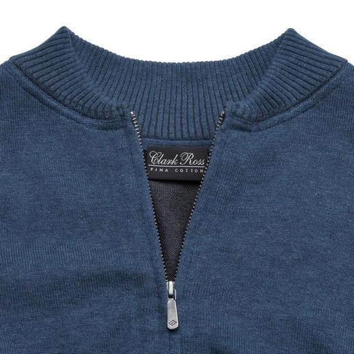 Pima-Cotton-Strickblouson Die Strickjacke aus handgepflückter peruanischer Pima-Baumwolle: Modisch wichtig wie ein Blouson. Aber viel bequemer.