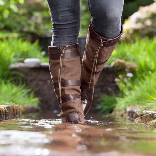 Dubarry Wasserdichte Lederstiefel Die stilvolle Alternative zu Gummistiefeln.