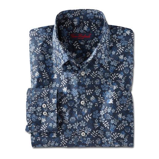 Liberty™ Tana-Lawn-Hemd, Dunkelblau/Weiss/Blau/Grau Das florale Gentleman-Hemd: Bei allen anderen Trend. Bei Liberty™ Tradition seit über 140 Jahren.