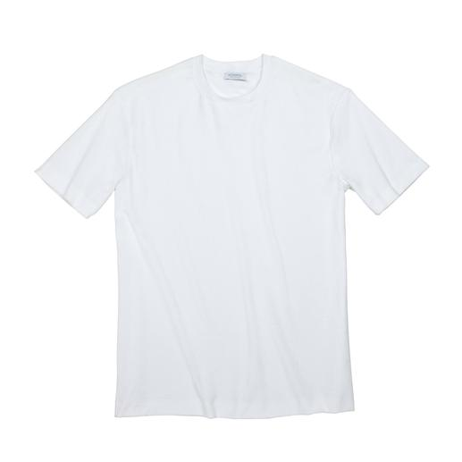 Sunspel Frottee-T-Shirt Funktions-Shirt und edler Hingucker zugleich: das Edel-T-Shirt aus seltenem Wirkfrottee. Von Sunspel/England.