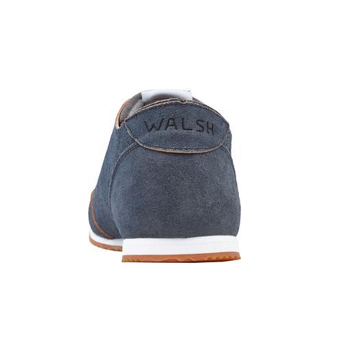 Norman Walsh Barfuss-Ledersneaker Der perfekte Barfuss-Sneaker: Ungefüttertes Kalbleder, pflanzlich gegerbt und in England handgefertigt.