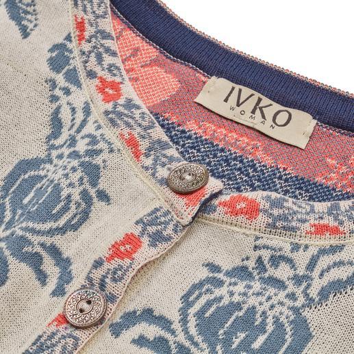 IVKO Jacquardjacke Ornamente Aussergewöhnlich vielfarbiger Jacquard-Strick. Eine Rarität aus Serbien. Von IVKO.