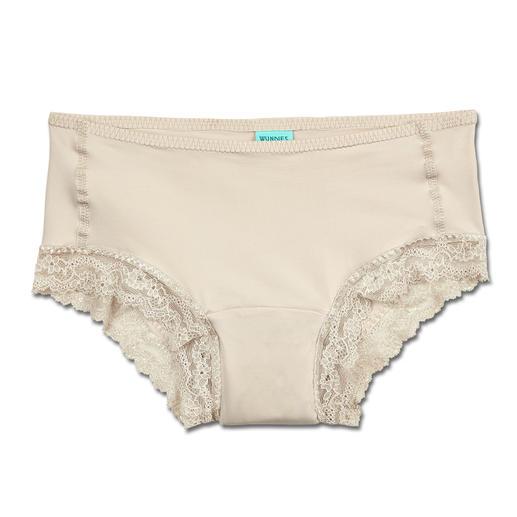 Stop-Drops-Safety-Slip, Damen Nur selten bietet modische Unterwäsche so viel Funktion: Weich. Saugfähig. Unsichtbar unter eng anliegender Kleidung.