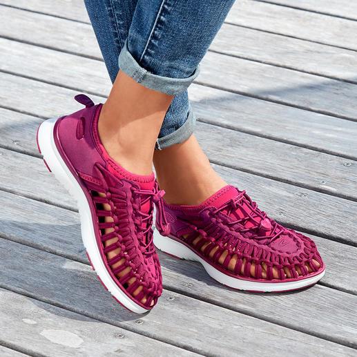 KEEN® Outdoor-Sneaker Uneek™ 02, Damen 2 Schnüre + 1 Sohle = der derzeit wohl innovativste Outdoor-Sneaker.