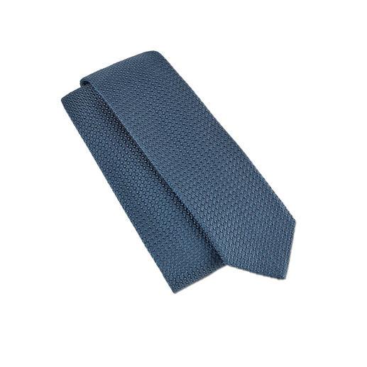 Garza-Grossa-Krawatte Die Seidenkrawatte im angesagten Strick-Look. Aus seltenem Garza-Grossa-Gewebe made in Italy.