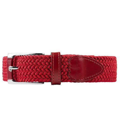 Der elastische Gürtel von Belts: genial bequem, stufenlos verstellbar. Und elastisch. Vergessen Sie Gürtellängen und -grössen - dieser Gürtel passt immer. Drückt nie, auch nicht beim Sitzen.