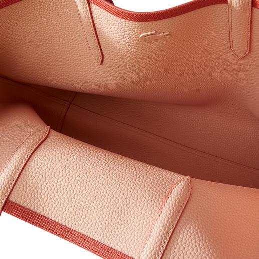 Lacoste Wende-Shopper Eine Seite typischer Piqué-Print, eine Seite edler Leder-Look.