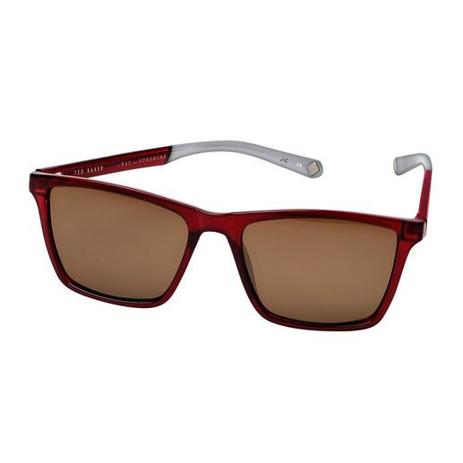 Ted Baker Herren-Sonnenbrille Die Sonnenbrille vom Londoner Trend-Label Ted Baker – hierzulande noch schwer zu finden.