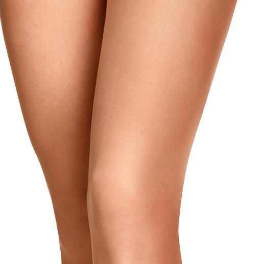 Die erste Shape-Strumpfhose mit Contouring-Effekt. Optisch schlankere Beine auf ganzer Länge. Made in Germany von Item m6.