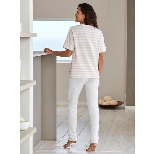HFor Streifen-Shirt oder Sweat-Hose Der Loungewear-Anzug vom belgischen Newcomer-Label HFor.